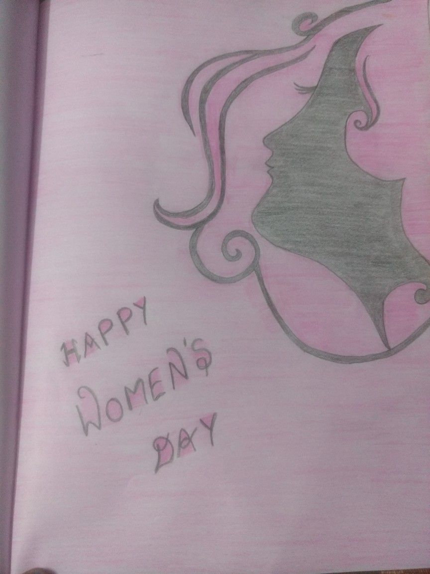 Pencil Sketch Women's Day