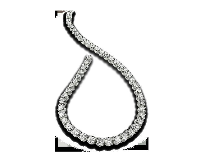 Corona 18 Kt White Gold Tennis Bracelet With Round Brilliant Cut