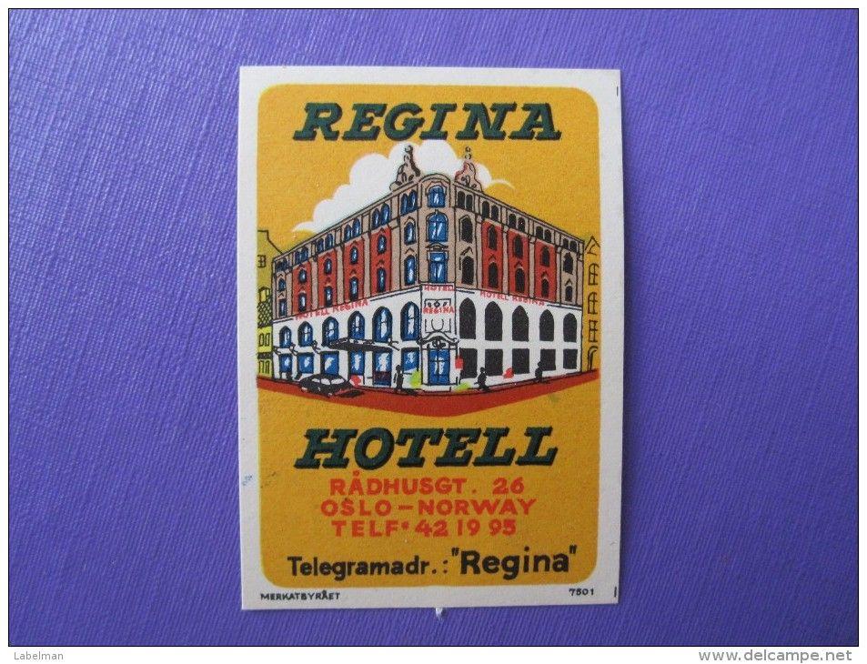 HOTEL HOTELLI HOTELL HOTELLET REGINA OSLO NORVEGE NORWAY NORGE DECAL LUGGAGE…