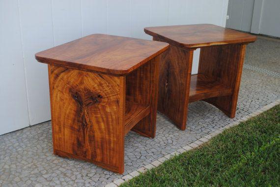 Koa Wood End Tables Etsy Tropical Island Decor