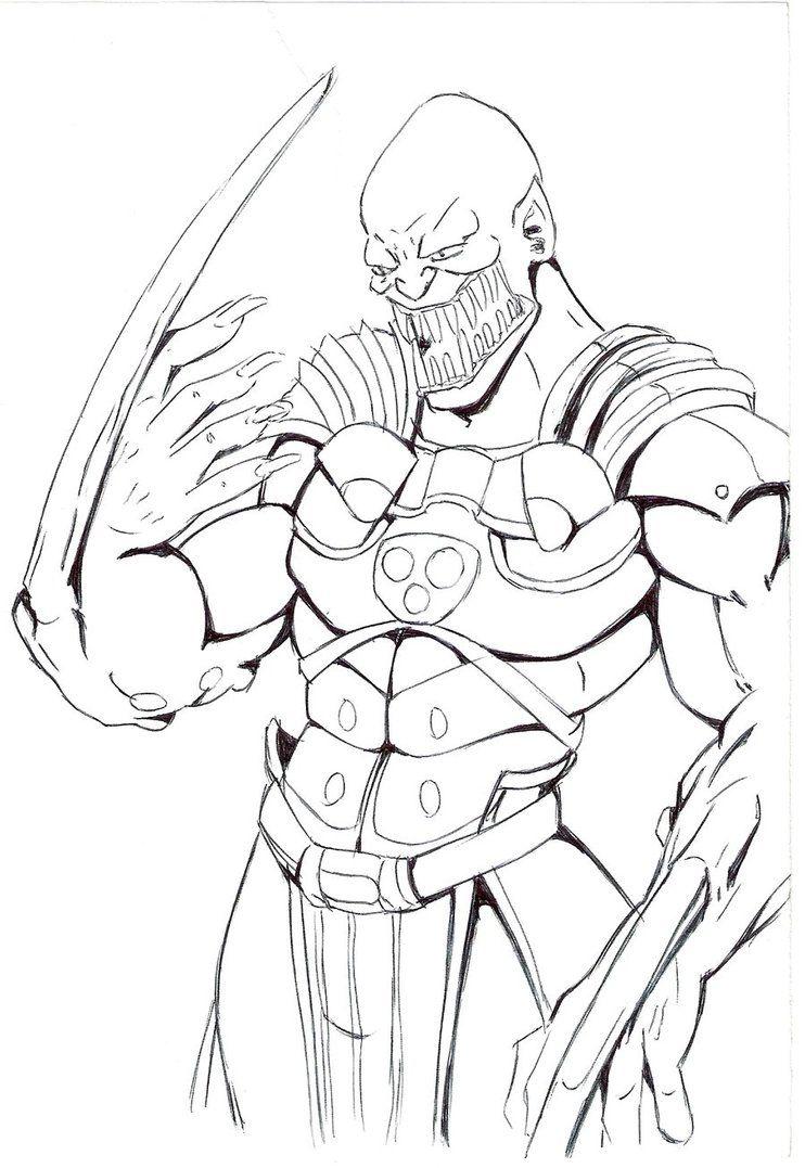 Baraka Vs Mode Coloring Pages Mortal Kombat Mortal Kombat Art