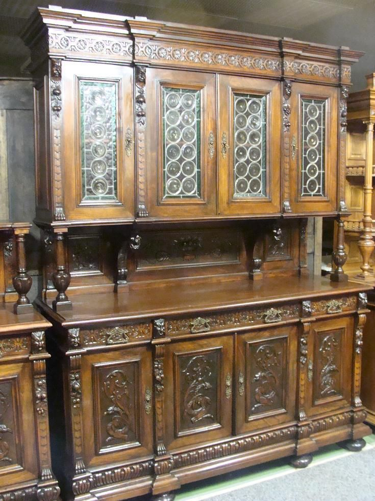 phantastisches riesiges gr nderzeit buffet in antiquit ten kunst mobiliar interieur. Black Bedroom Furniture Sets. Home Design Ideas