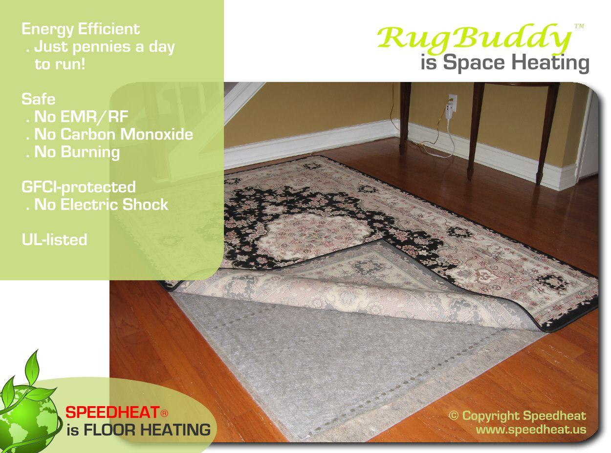 Rugbuddy Speed Heat Floor Heating 5x7 250 Floor Heating Systems Space Heater Floor Heater