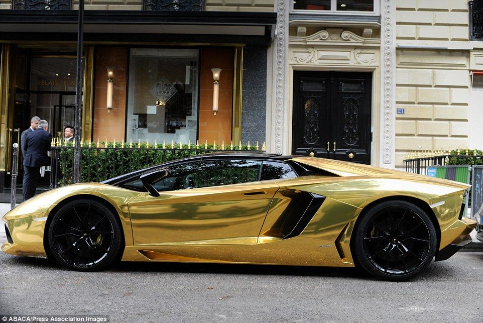 The World S Most Expensive Car Is Revealed Gold Lamborghini Lamborghini Aventador Expensive Cars