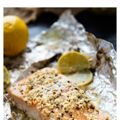 Photo of Lemon Basil Baked Garlic Butter Salmon
