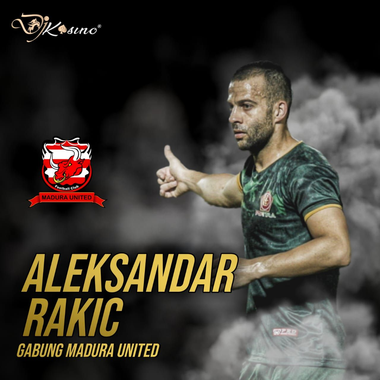 Madura United mendatangkan Top Score Liga 1 Indonesia, Aleksandar Rakic. Madura sedang jor-joran #djkasino…