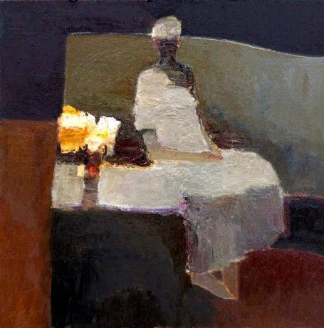 Dan McCaw, 'Unadorned', Oil on Board, 24x24 - Anne Irwin Fine Art