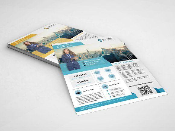 InDesign: Business flyer-2 color-V70 by Template Shop on ...