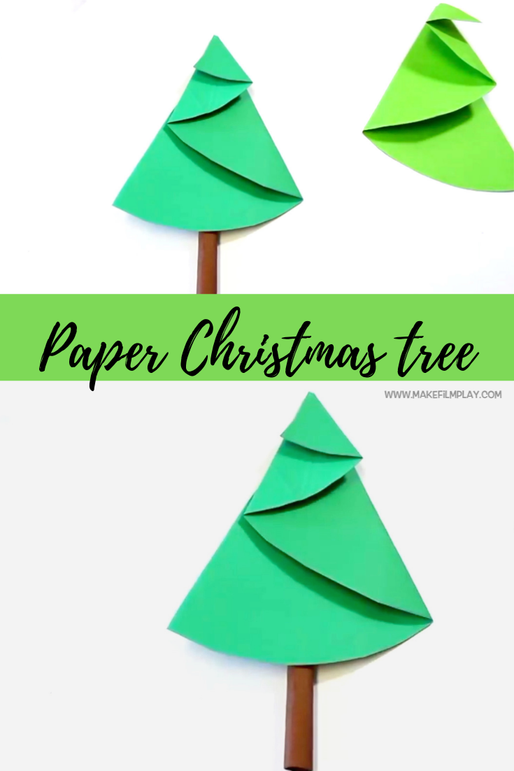 How To Make A Paper Christmas Tree Paper Christmas Tree Christmas Tree Crafts Paper Craft Projects