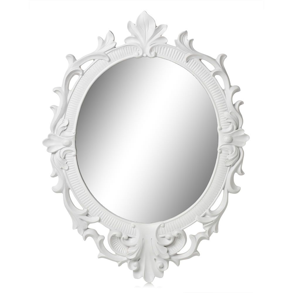 Wilko baroque mirror silver 87x62cm - Wilko Rococo Mirror White Oval At Wilko Com Spray Paint This Yellow For Cloakroom