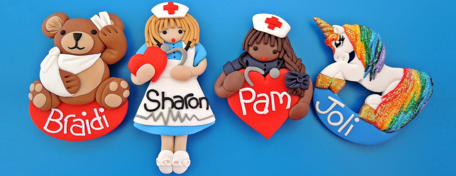 badge nurse polymer clay