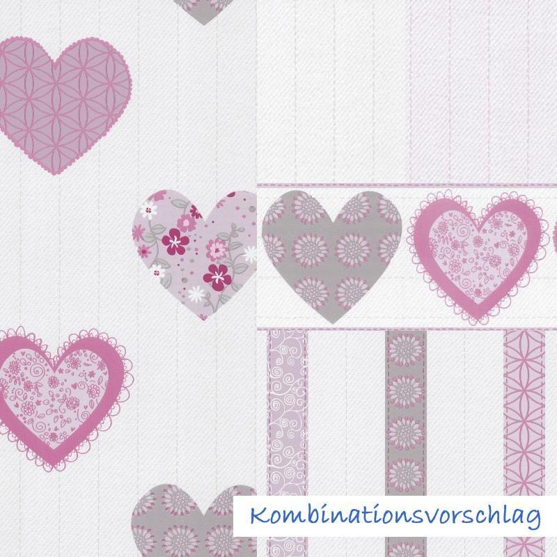 Süße Herzchen-Tapete für Prinzessinnenzimmer von P+S International ...