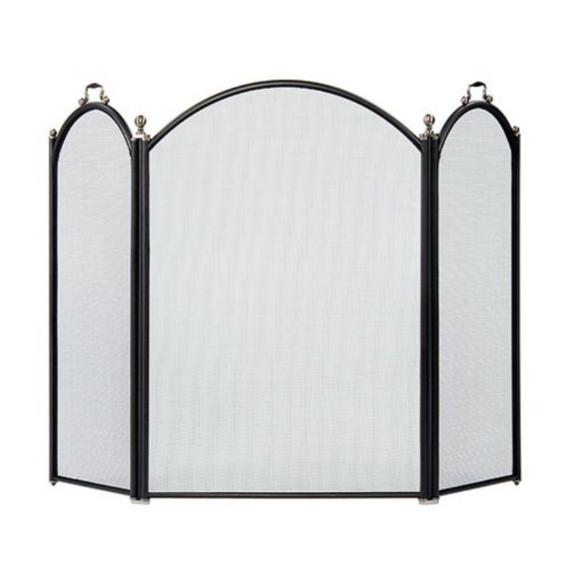Fireplace Design arched fireplace screen : Minuteman International Arched 3-Fold Arched Fireplace Screen ...