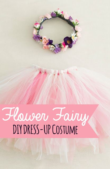 Flower Fairy Costume Easy DIY Costume for kids dress-ups or