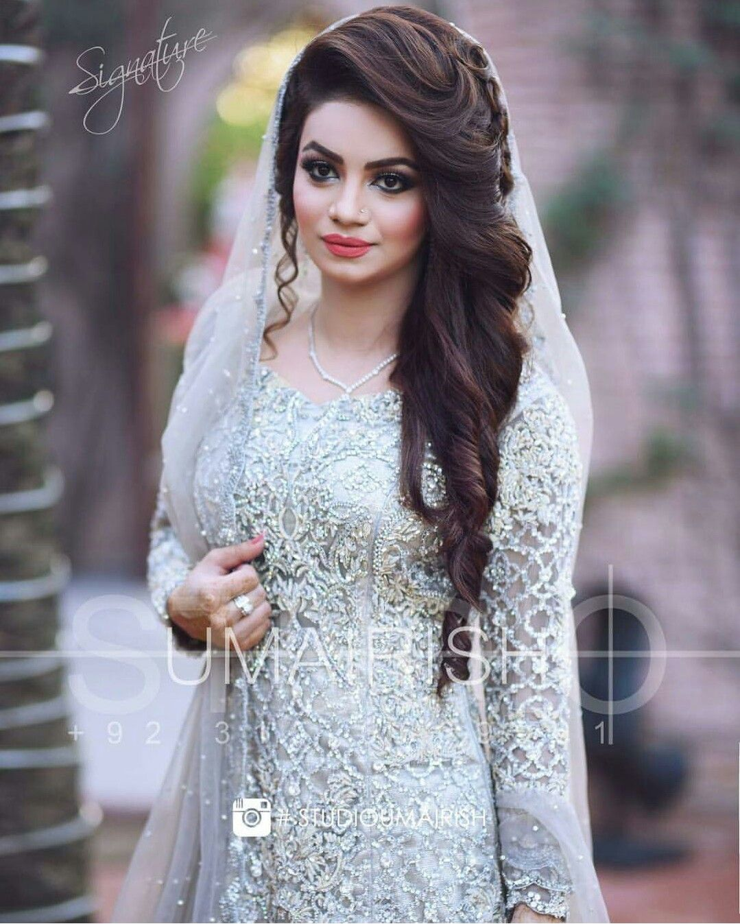 Pin By Alina Ch On Bridal Dresses Pakistani Bridal Hairstyles