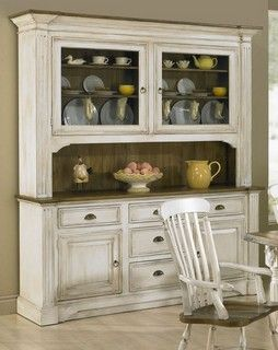 Provencal Style This Elegant French Provincial Stepback Cupboard By Katemadison Com Features Flute French Country Furniture Country Furniture Country Cupboard