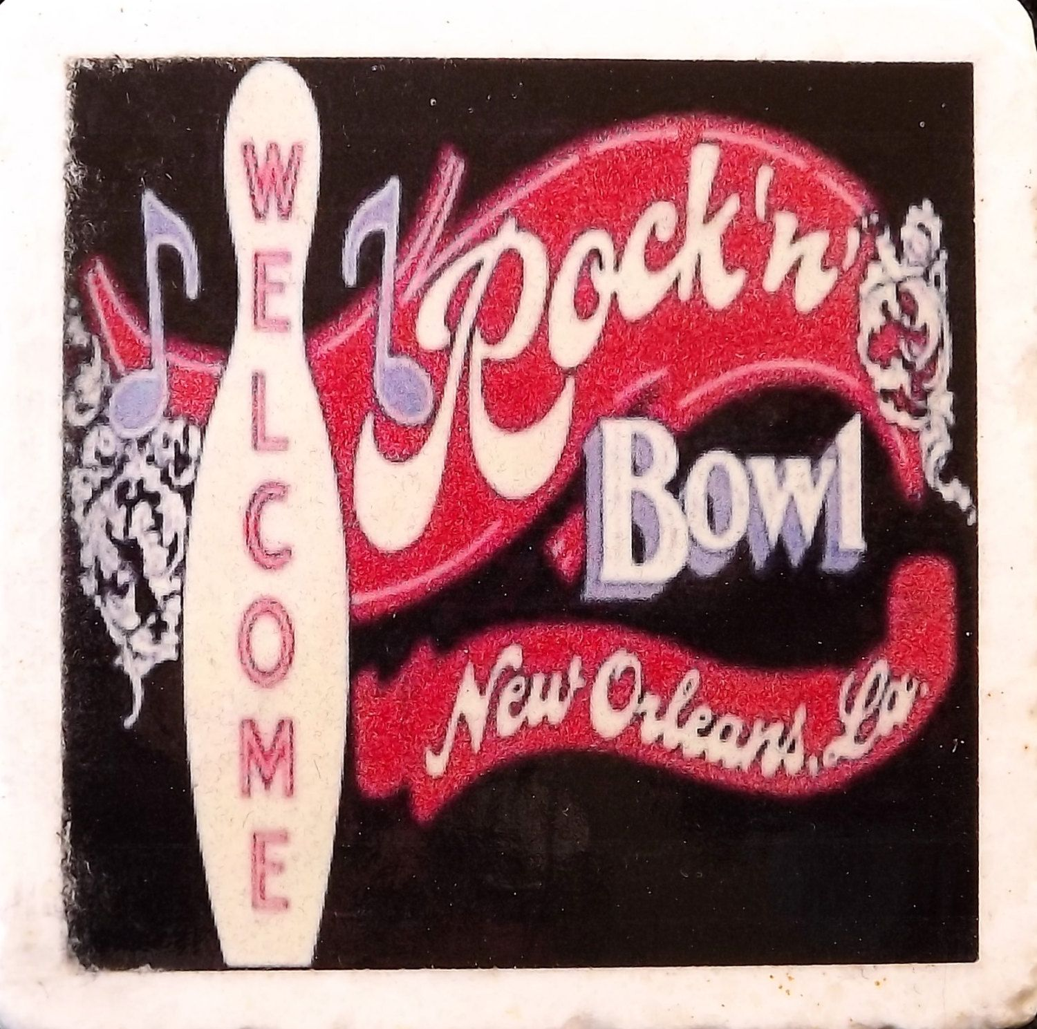 Rock N Bowl New Orleans Coaster | Pinterest | Coasters, Epoxy and Cork
