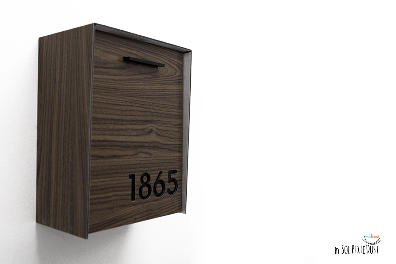 Modern Mailbox With Wood Walnut Aluminum Face And Body And Etsy In 2020 Mounted Mailbox Wall Mount Mailbox Modern Mailbox