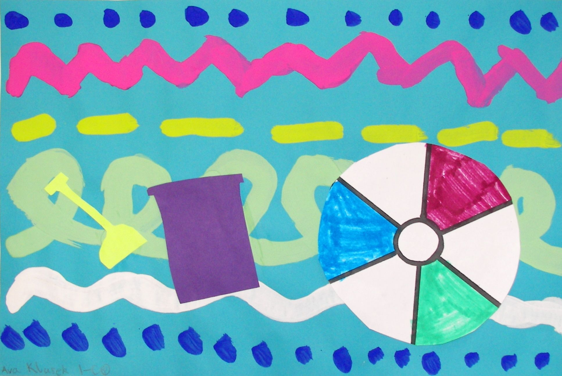 Beach towel design. Choice of colour, lines and patterns, add beach ...