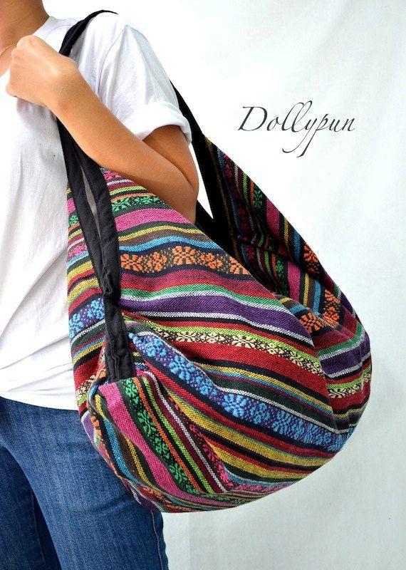 Hmong Hippie Gypsy Boho Hobo Backpack Messenger Bag par Dollypun, $14.98