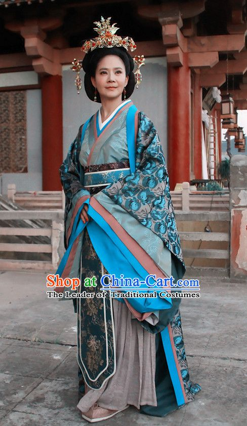 Chinese Han Dynasty Empress Costume Dresses Clothing Clothes Garment