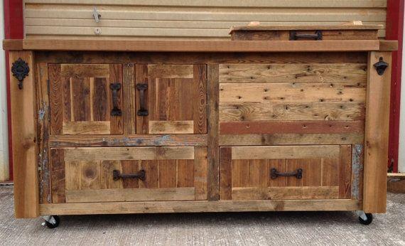 Custom Reclaimed or Barnwood Furniture, Bar Cabinets ...