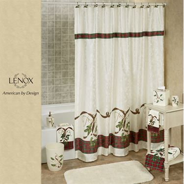 Holiday Nouveau Shower Curtain Ivory Shower Curtain Ivory Curtains