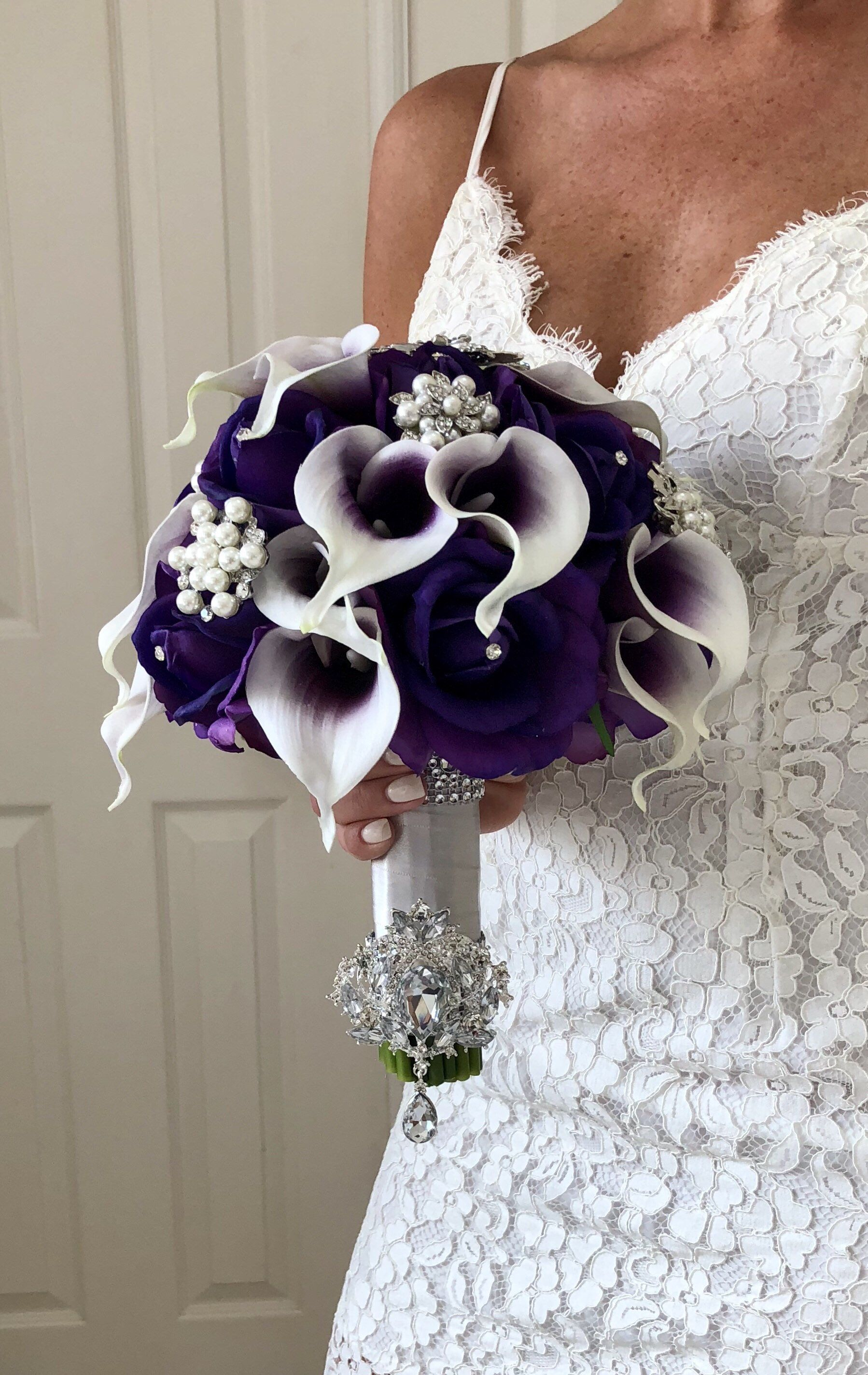 Pin by Flaural on Silk Wedding Bouquets in 2019 Purple