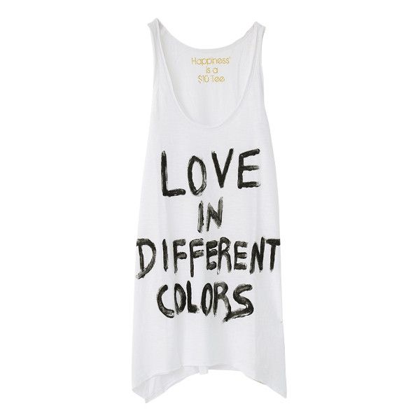 Tank Happiness is a $10 ($10) ❤ liked on Polyvore featuring tops, shirts, tank tops, tanks and shirts & tops