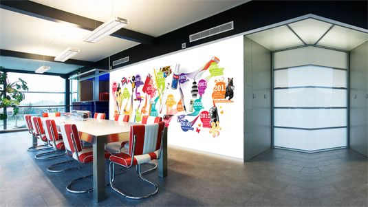 21 incredibly cool design office murals Office walls Wall