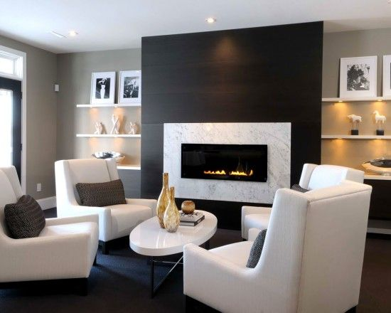 Gas Fireplace Design Plus Seating Arrangement | For The Home