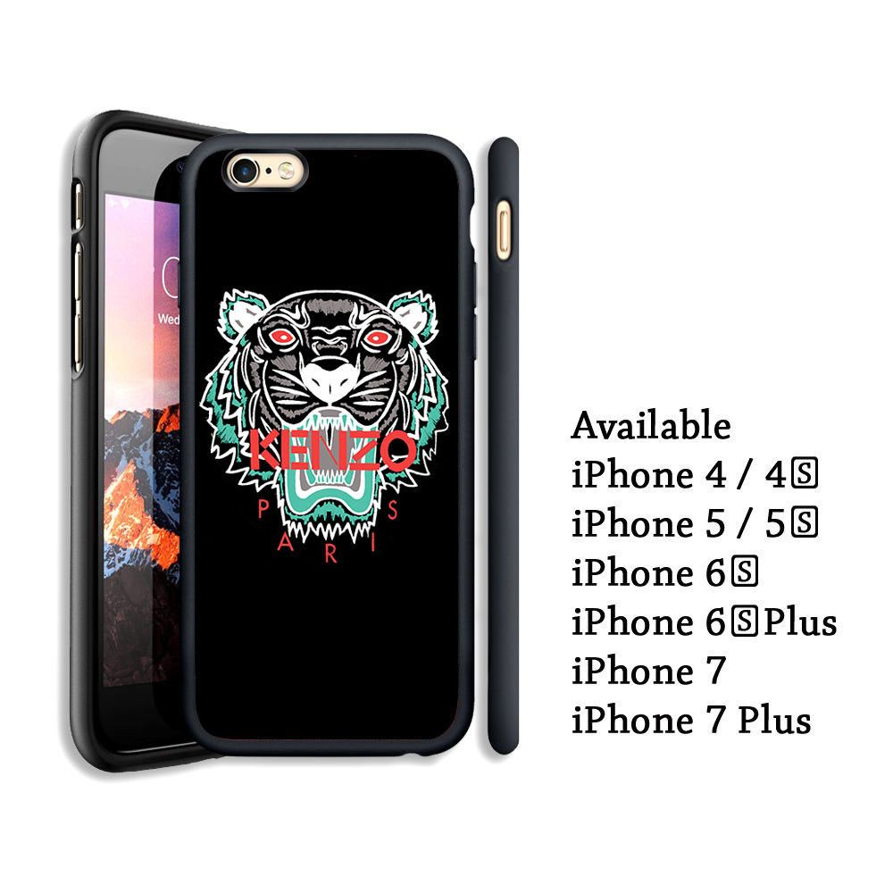 best cheap 2f218 dea74 Kenzo Paris Logo Tiger Print On Hard Case For iPhone 6 6s Plus 7 8 ...