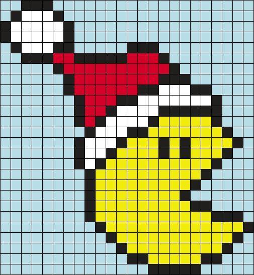 Pixel Templates Pacman Art Minecraft