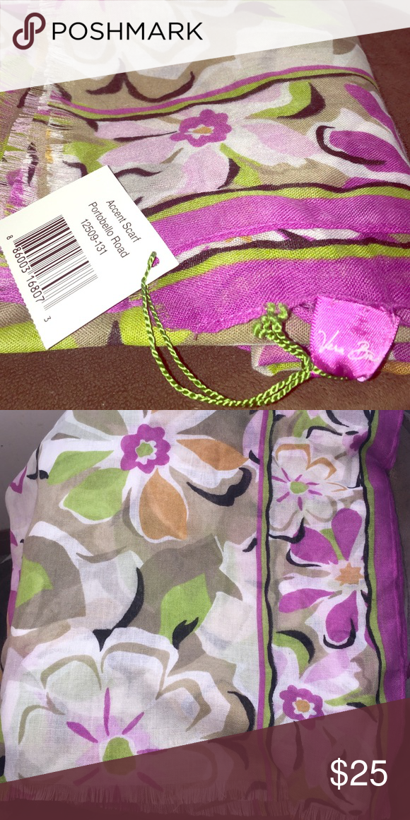 """Vera Bradley Accent Scarf New with tags accent scarf in """"Portobello Road"""" Vera Bradley Accessories Scarves & Wraps"""