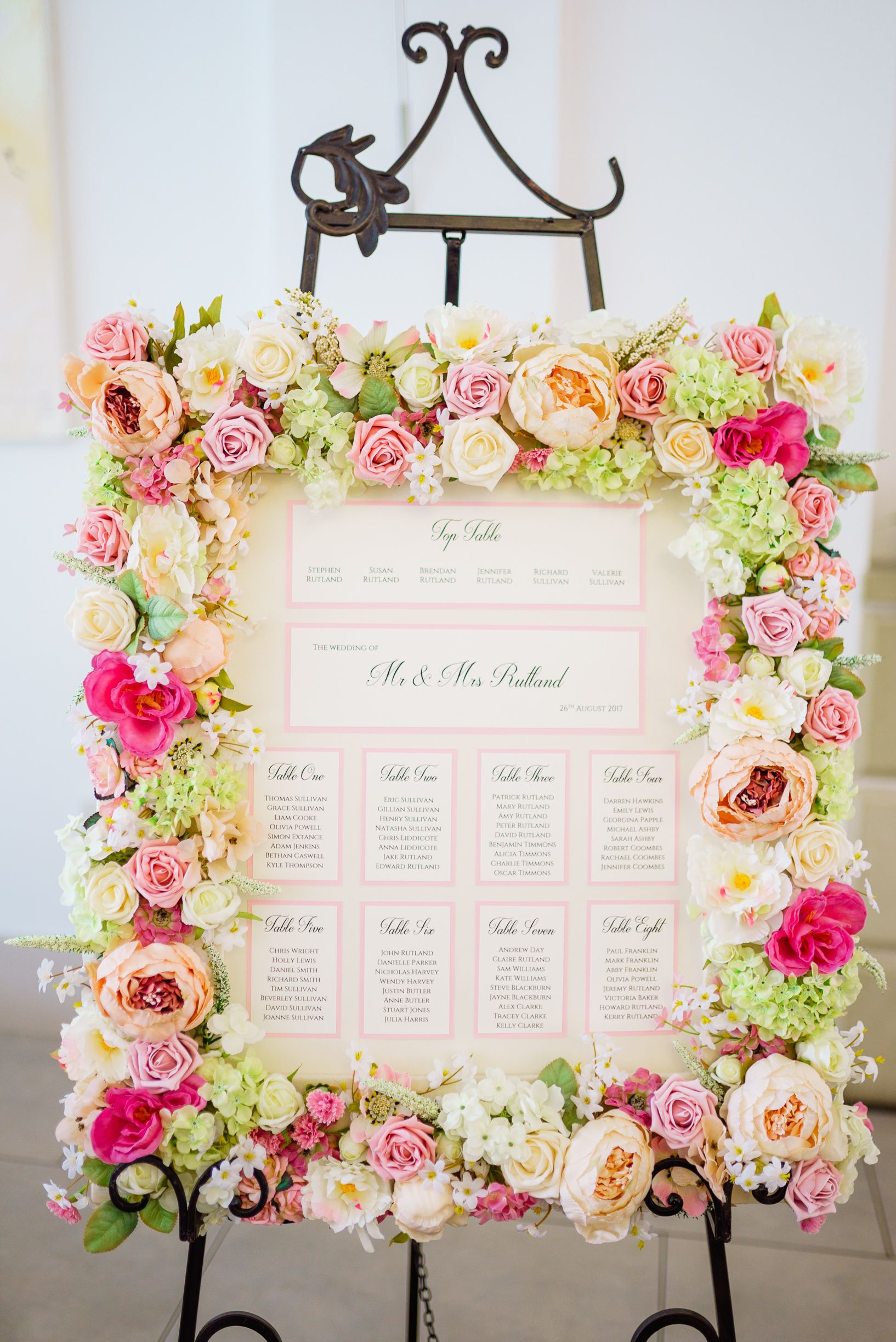 Gorgeous Flower Table Plan By Lily And Lottie Stationery Wedding