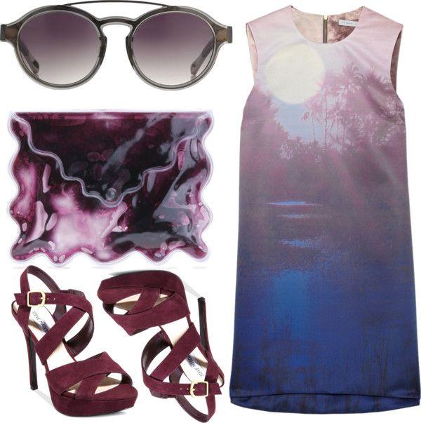 """purple"" by eleanor-wainwright ❤ liked on Polyvore"