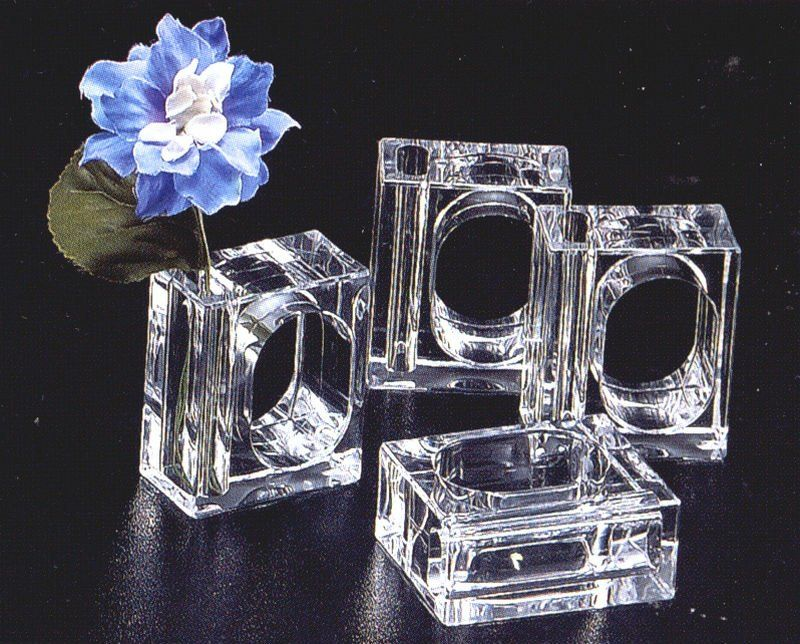 Acrylic 2 In 1 Bud Vase Napkin Holder Ring Napkins