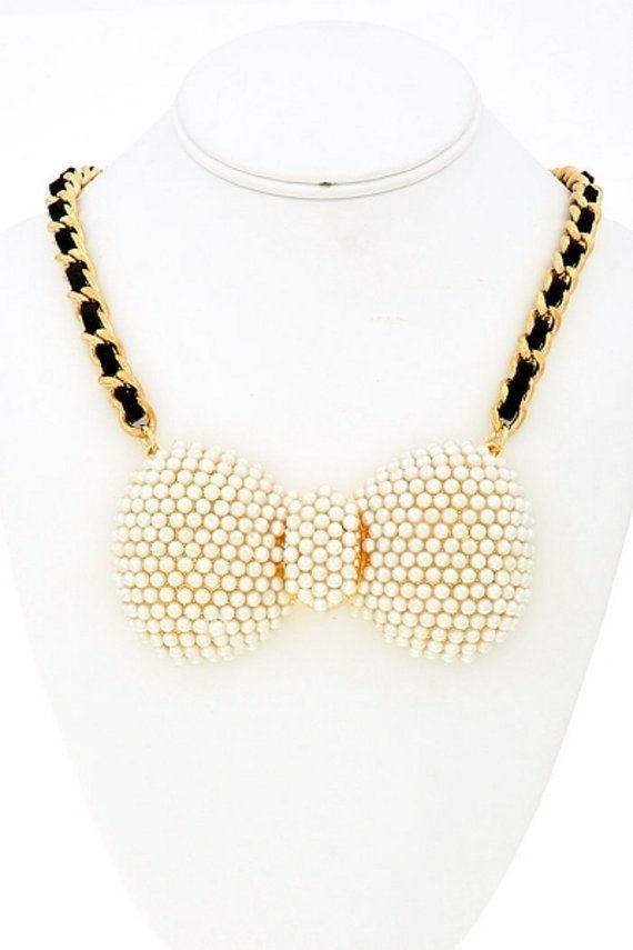 collier lariat collier plastron ras du cou collier par Paulafashion, $18.00