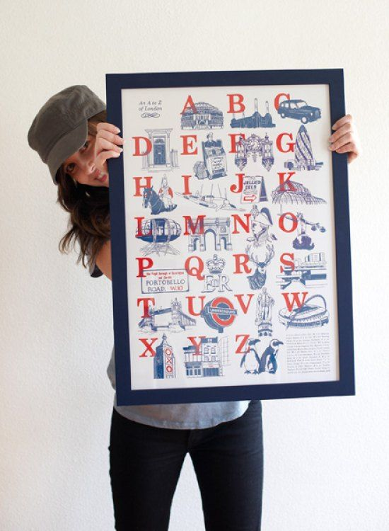 #fashion #australia #melbourne #fashionstore -   Laura Seaby's An A to Z of London is a truly brilliant print, referencing twenty-six of London's greatest landmarks and icons. Laura has combined typography and beautiful illustration in red and blue t