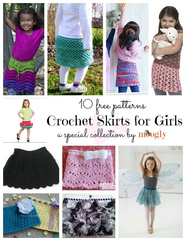 Crochet skirt ideas for girls | crochet skirts and dresses for girls ...