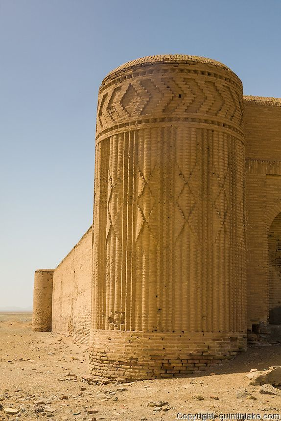 Disused caravanserai on the road from Yazd to Isfahan. The buildings served as a... -
