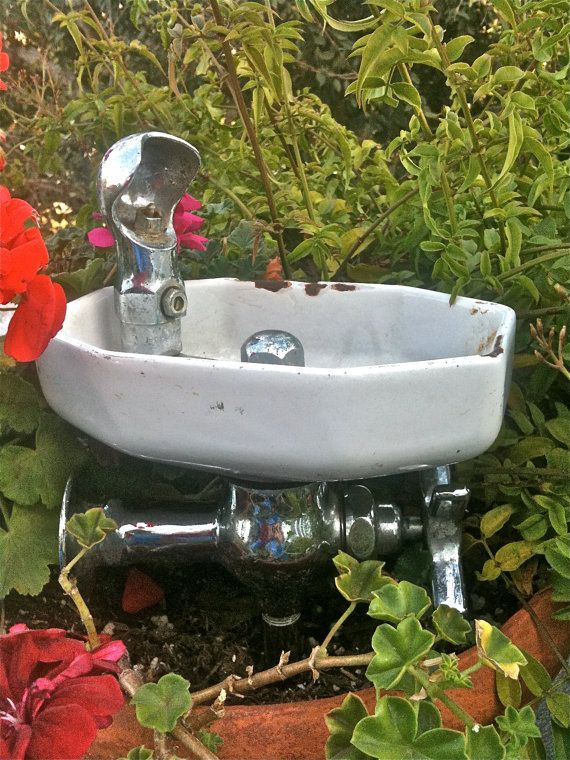 Vintage Salvaged School Water Fountain By Sweetladyjune On Etsy 160 00 Drinking Fountain Outdoor Garden Sink Water Fountain