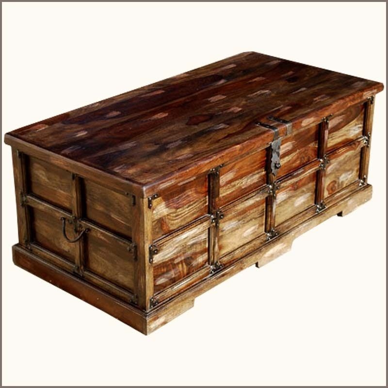Coffee Table Rustic Trunk