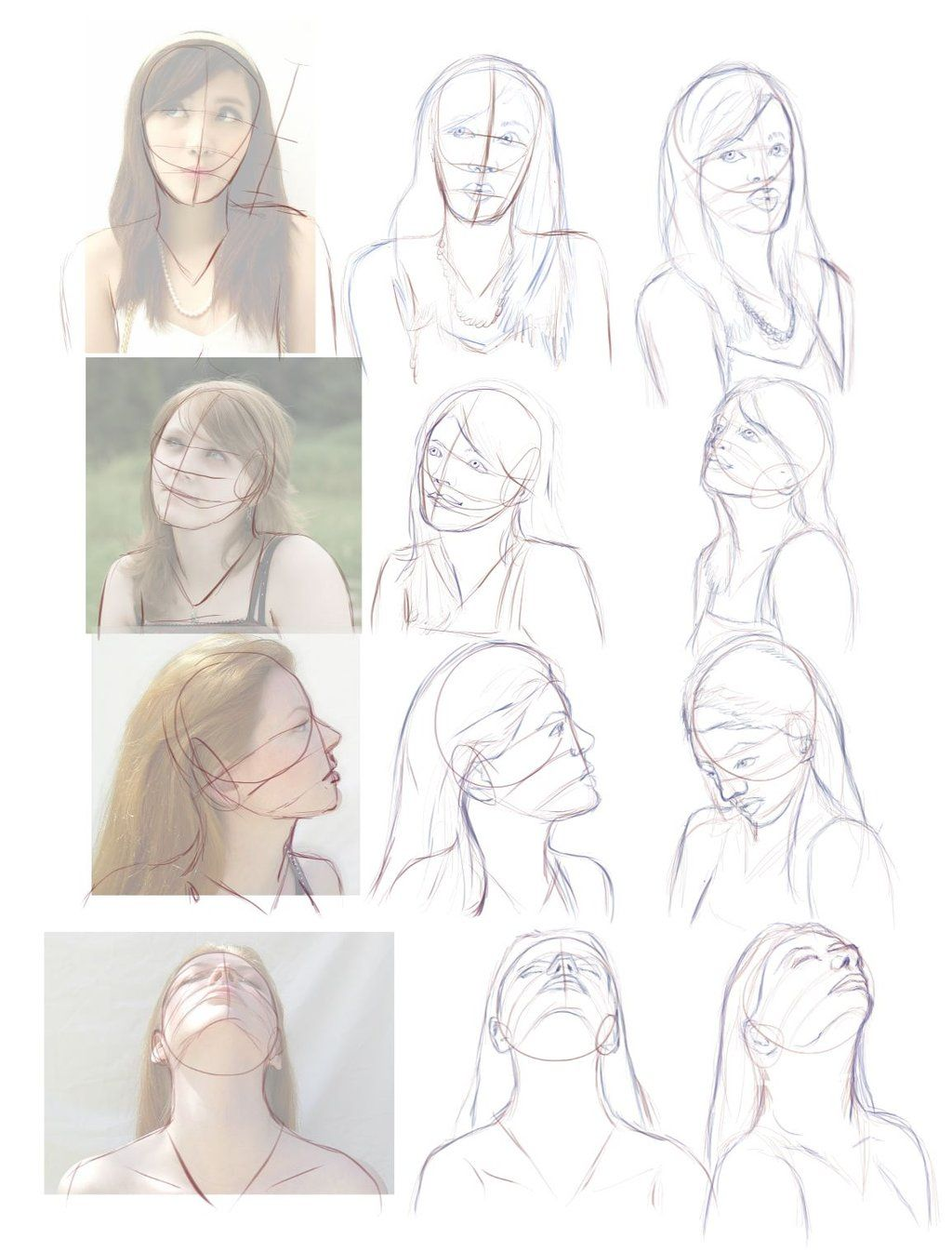 How To Draw Head From Different Angles Google Sogning Drawings Drawing Heads Female Head