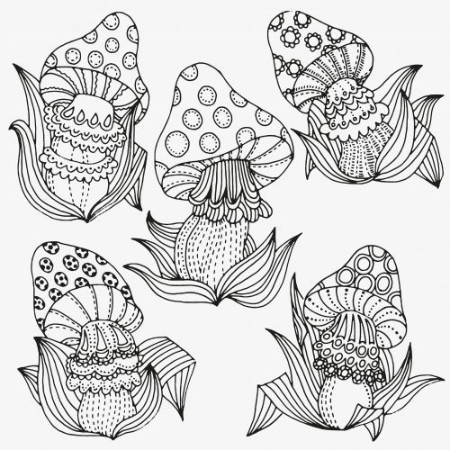every kids likes mushrooms that is why we have mushroom coloring page here on - Free Printable Mushroom Coloring Pages
