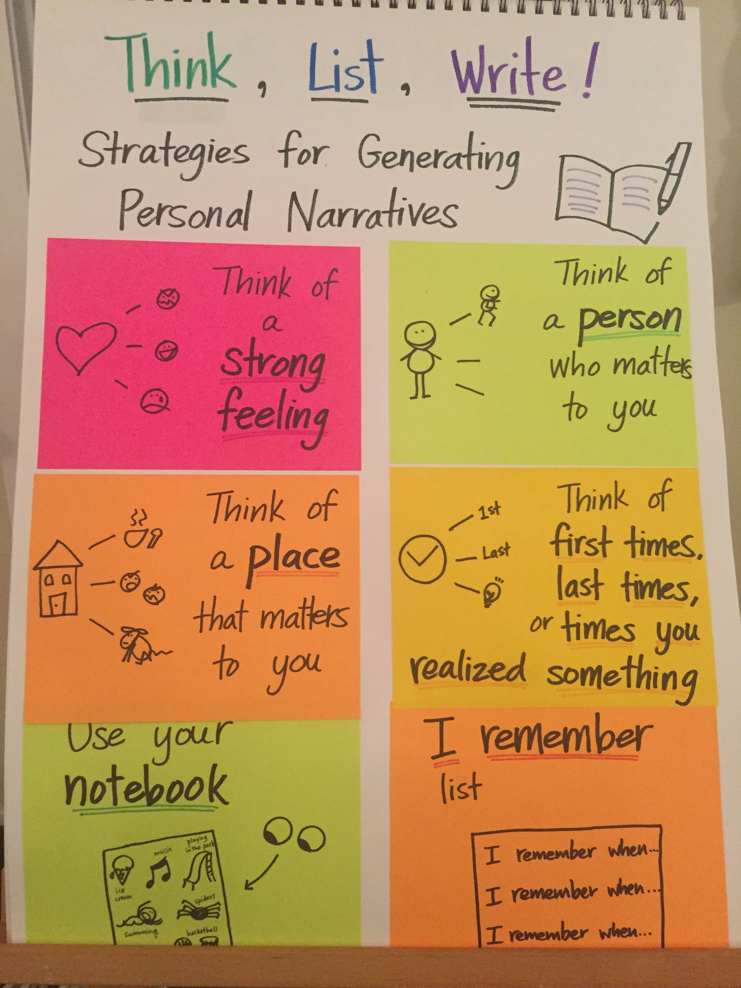 Strategies For Generating Ideas For Personal Narrative