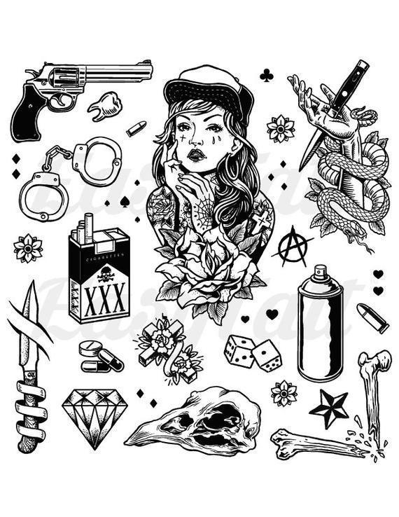 Gangster Tattoos Thug Tattoos Gang Tattoos