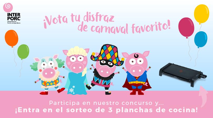 ¿Quieres ganar una plancha de cocina? Hazte fan de nuestra página de Facebook y elige el disfraz de carnavales que más te guste.