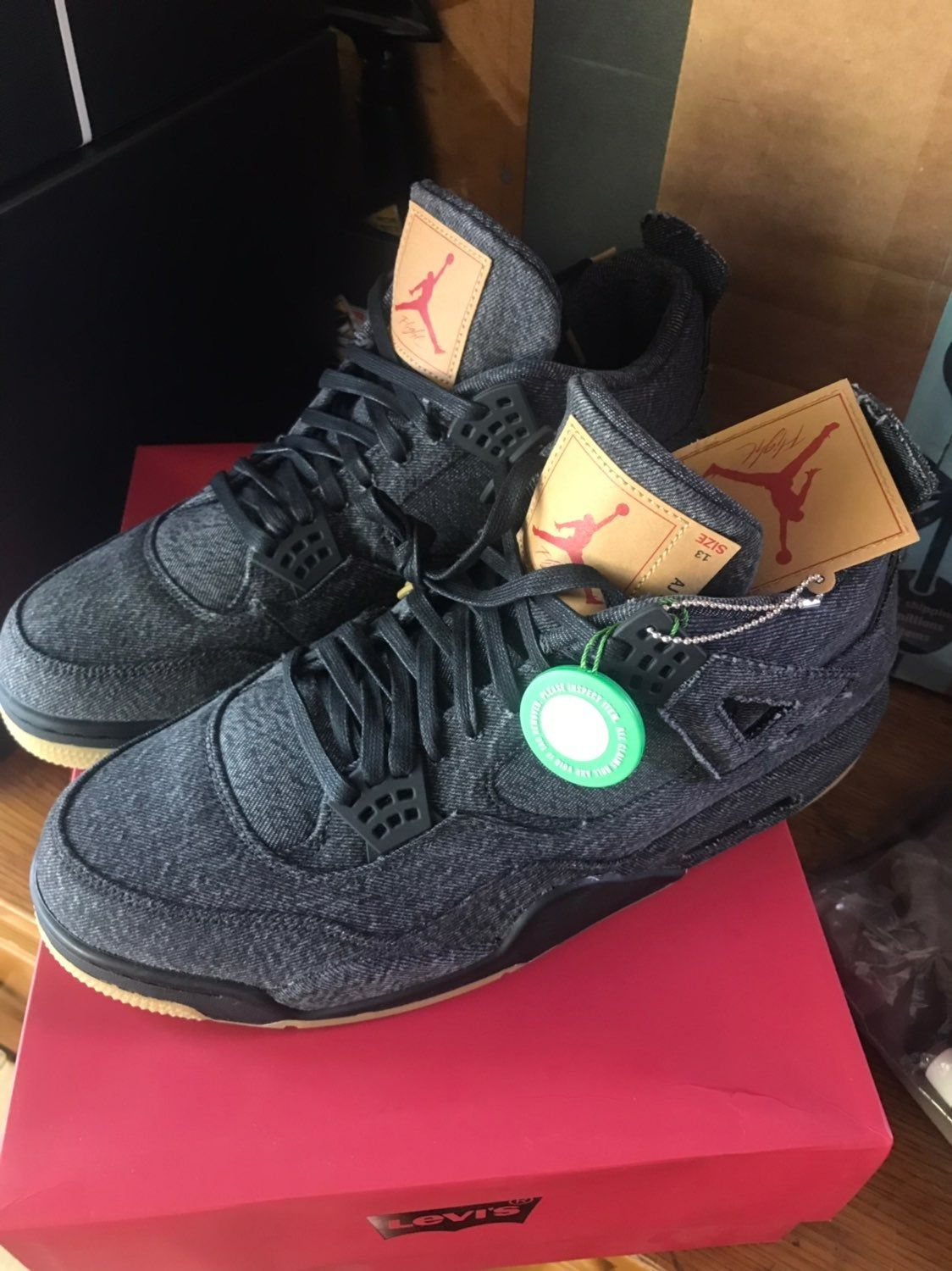 208890bc Black Jordan retro 4 Levi's Deadstock in the box straight from StockX with  receipt. Never