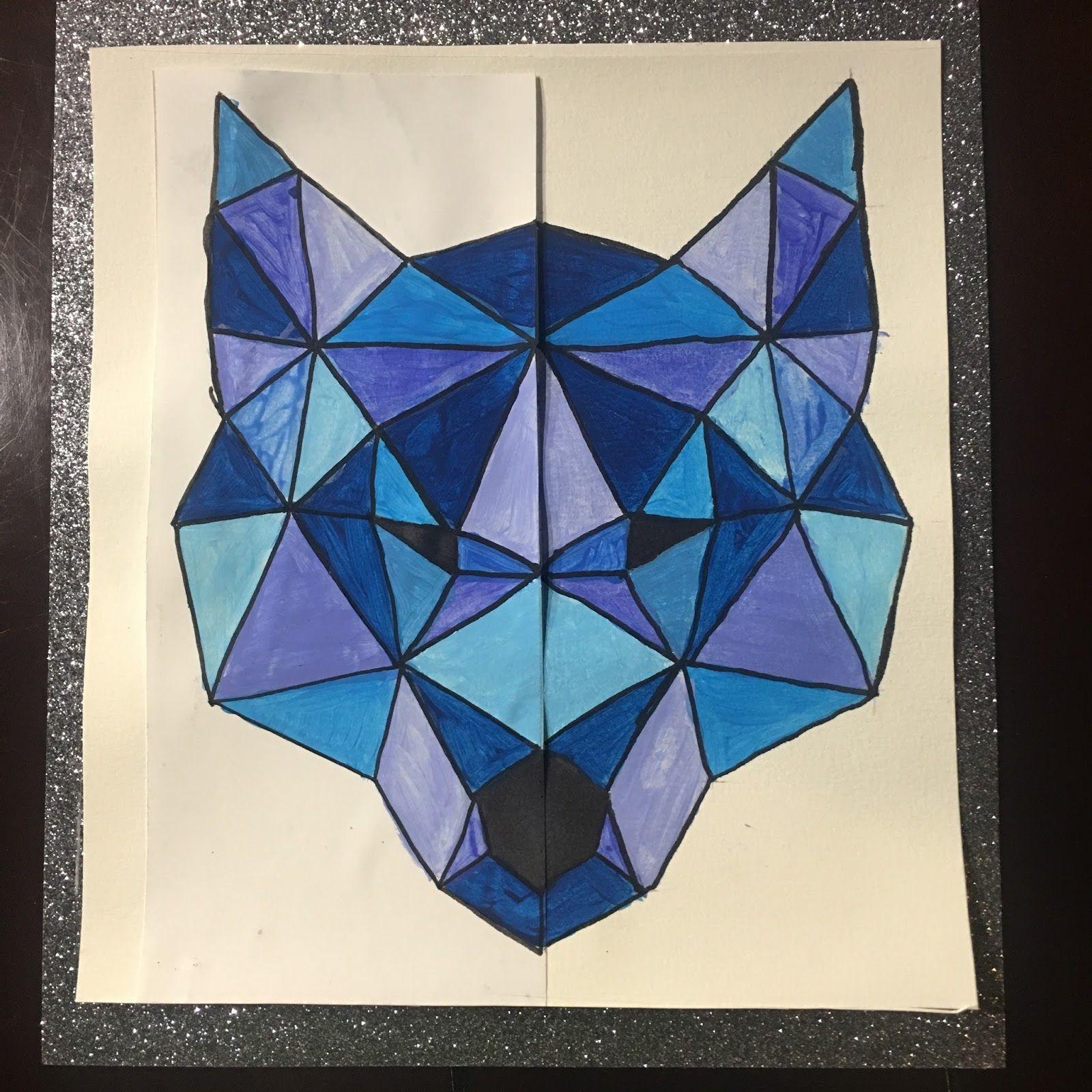 Instruction En Folie Arts Visuels Loup Et Symetrie Imagenes De Simetria Arte De Matematicas Tutorial De Dibujo